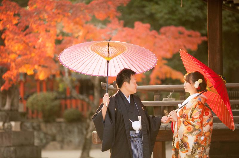 京都で和装前撮り・京都好日